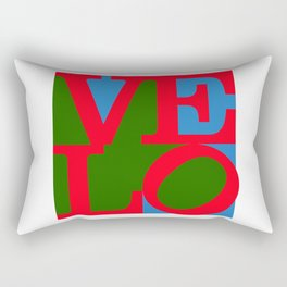 Velo Love – Logo – June 12th – 200th Birthday of the Bicycle Rectangular Pillow