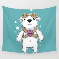 pilot Wall Tapestries featuring Polar Pilot by Freeminds