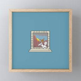 Plenty of imagination: the dinosaur's girl. Framed Mini Art Print