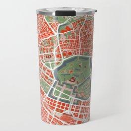 Tokyo city map classic Travel Mug