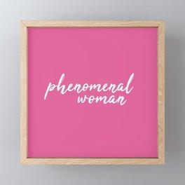 Phenomenal woman Framed Mini Art Print