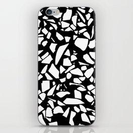 Terrazzo White on Black iPhone Skin