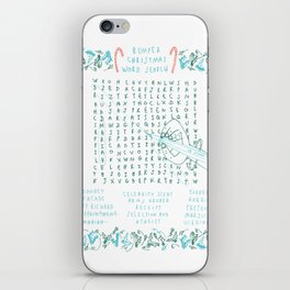 BUMPER CHRISTMAS WORDSEARCH CARD iPhone Skin