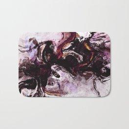 Purple Abstract Art / Surrealist Painting Bath Mat