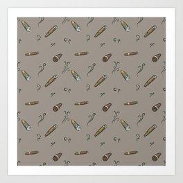 Smoky cigar pattern Art Print