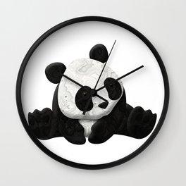 Lace Agate Panda Wall Clock