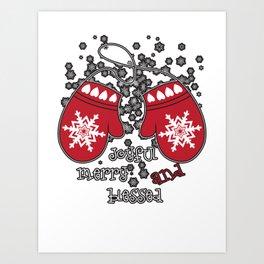 joyful merry and blessed Art Print