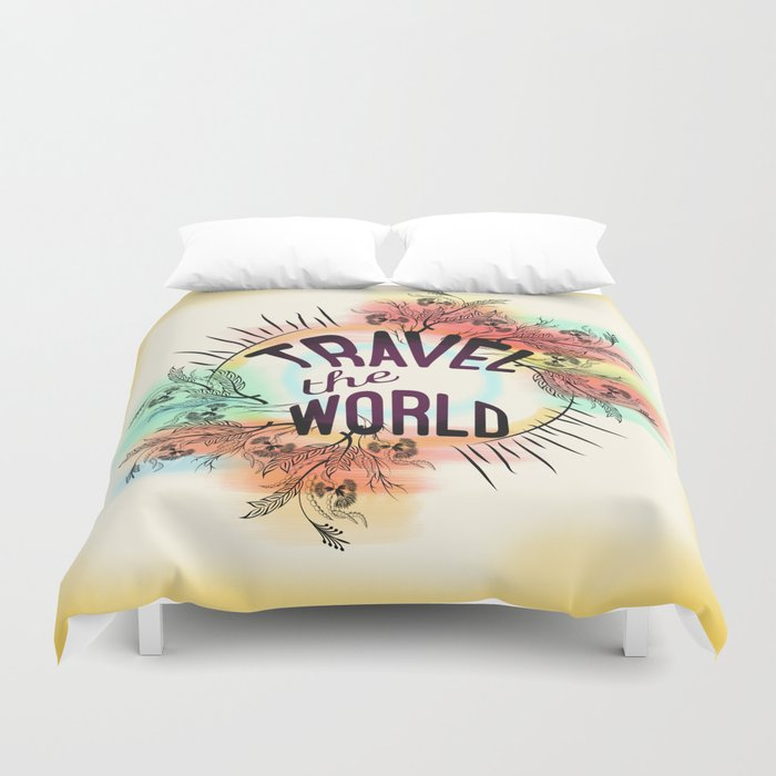 Travel the World Duvet Cover
