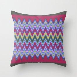 Wavy Pattern Throw Pillow