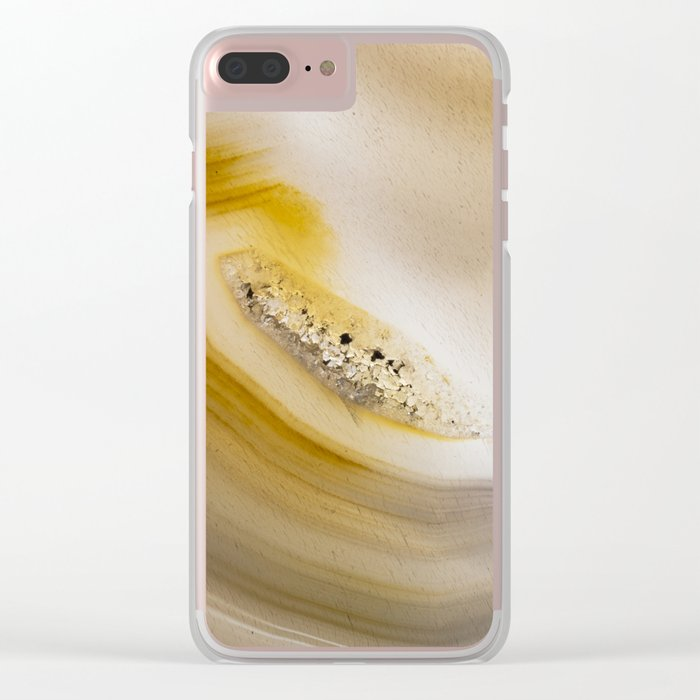 Sliced geode crystals Clear iPhone Case