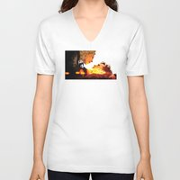 river song V-neck T-shirts featuring Find River Song by Nero749