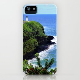 Kilauea Point Lighthouse Kauai by Reay of Light iPhone Case