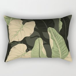 Tropical banana leaves Rectangular Pillow