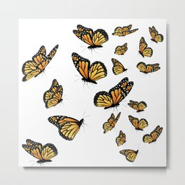 Monarch butterflies Metal Print