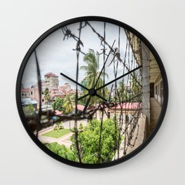 S21 Building C View - Khmer Rouge, Cambodia Wall Clock