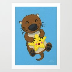 Otto and Bling Bling Art Print
