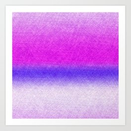 Abstract lilac blue pink geometrical ombre Art Print