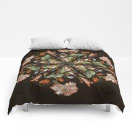 Flemish Floral Mandala 3 Comforters