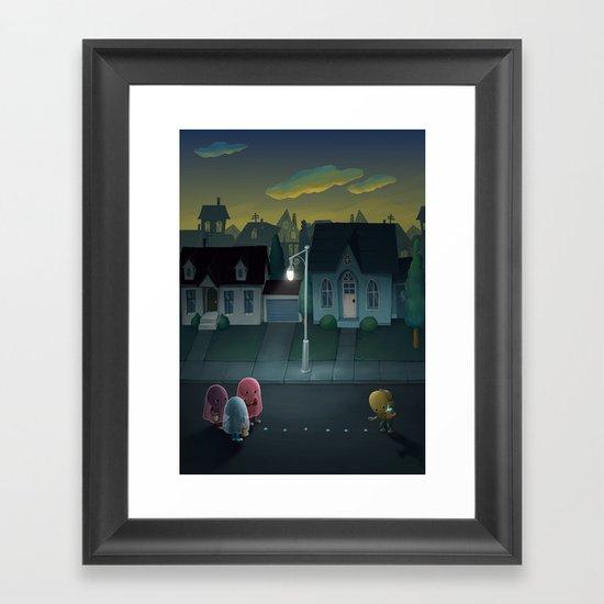 Pacman: Halloween Edition Framed Art Print
