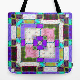 Glass Block Abstract Tote Bag