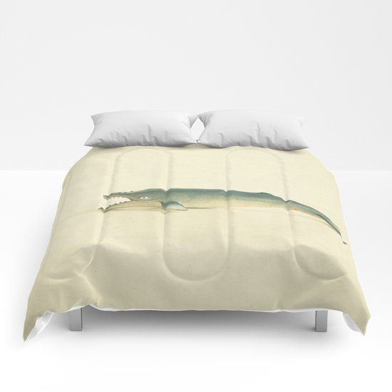 Like a Whale out of Water Comforters
