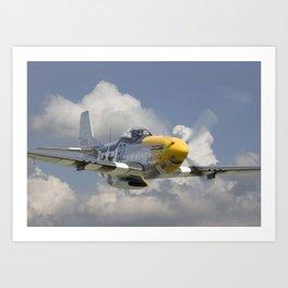 P51 Mustang - Ferocious Frankie Art Print