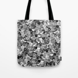 Black and White Abstract Mermaid Scales Pattern Tote Bag
