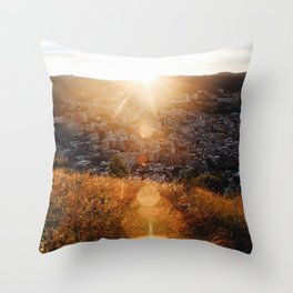 Los Bunkers Throw Pillow