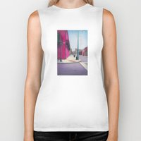 memphis Biker Tanks featuring Memphis Drawing by wendygray