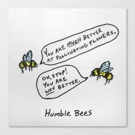 Humble Bees Canvas Print