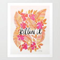 Killin' It – Melon Ombré Art Print