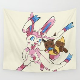 Sylveon and Eevee Wall Tapestry