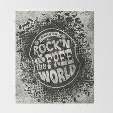 Keep On Rock'n!  Throw Blanket