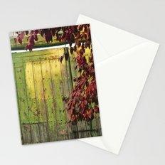 La portada verde y el otoño Stationery Cards