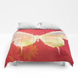 Pink Butterfly Comforters