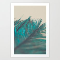Turquoise Feather Abstract Art Print