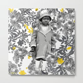 LITTLE GIRLS LIKE ROSES AND ANIMAL CRACKERS NEED NO EXCUSE Metal Print