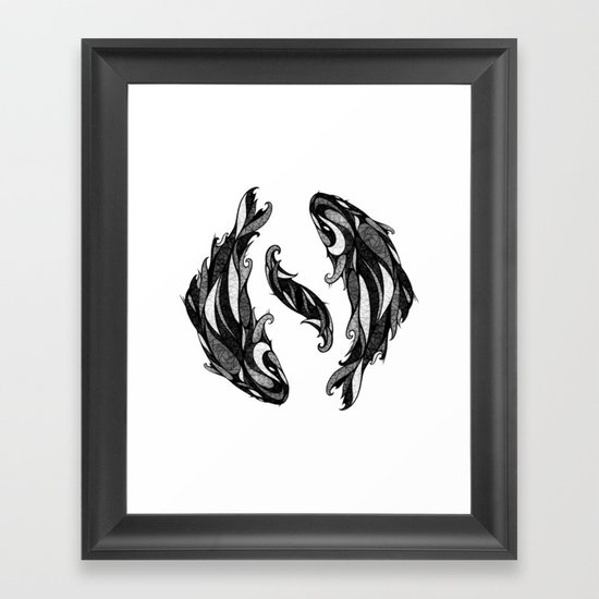 Signs of the Zodiac - Pisces Framed Art Print