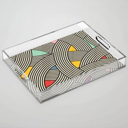 Modern Scandinavian Multi Colour Color Curve Graphic Acrylic Tray