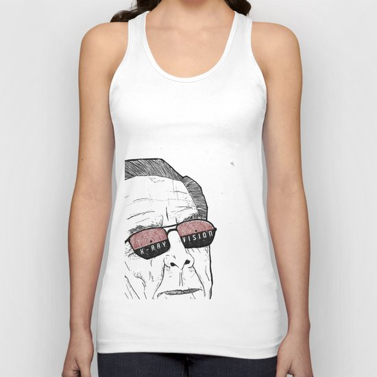 x-ray vision Unisex Tank Top