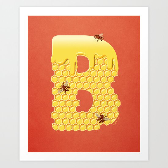 Honey B Art Print