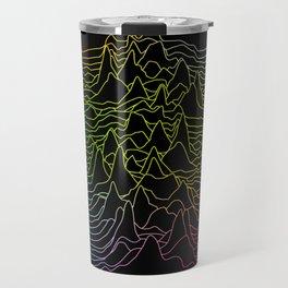 rainbow illustration - sound wave graphic Travel Mug