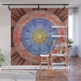 Healing Earth Four Winds Aztec Medallion Boho Stamp Mandala Wall Mural