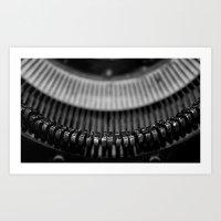 typewriter Art Prints featuring Typewriter by Anne Seltmann