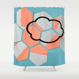 Cloud geometry Shower Curtain