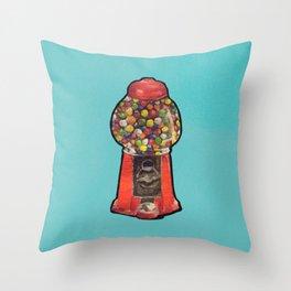 Gumball Machine Friend Throw Pillow