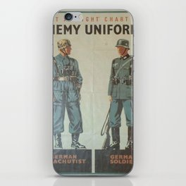 Vintage poster - Enemy Uniforms iPhone Skin