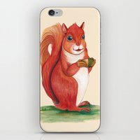 squirrel iPhone & iPod Skins featuring Squirrel by Yana Elkassova
