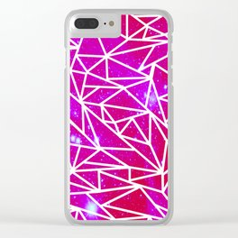 Starry Crystalline Space Pattern III Clear iPhone Case