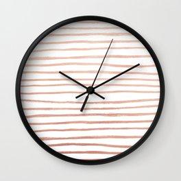 Rosey Gold Wall Clock
